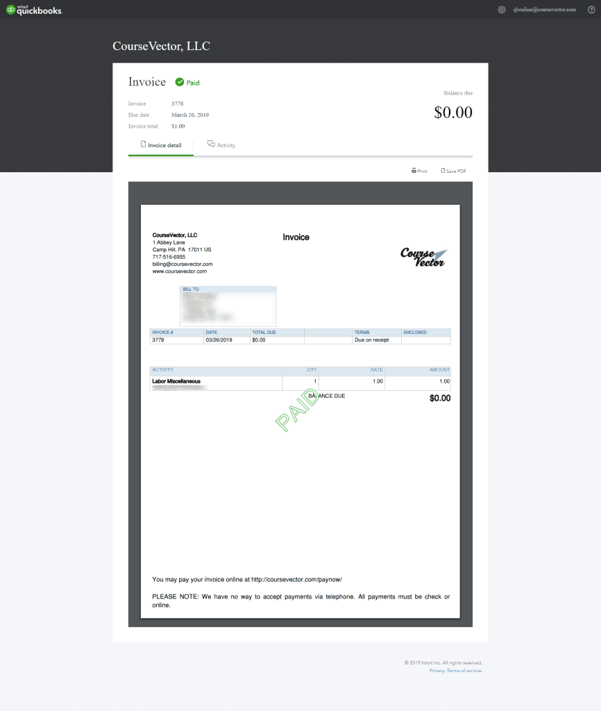 New Payment Portal for CourseVector Invoices -