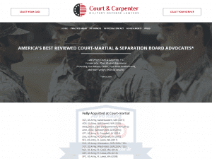 Military Law Firm Website Design