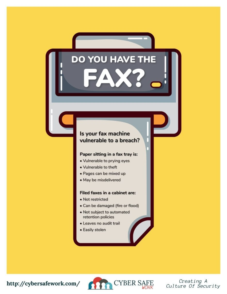 Do You Have The Fax Security Poster
