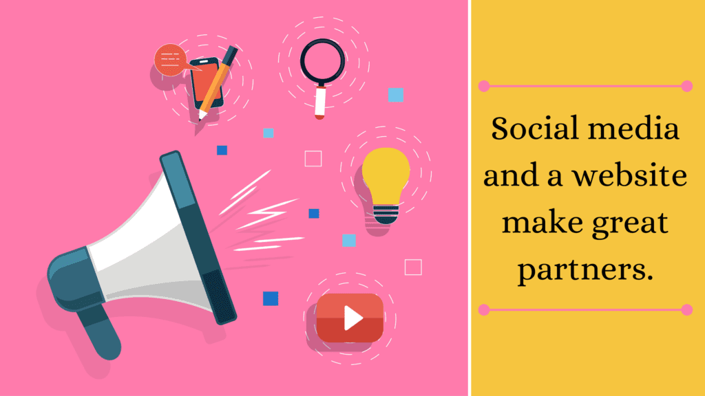 social media and a website make great paterners