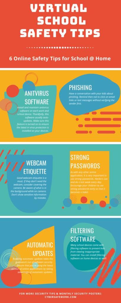 virtual school safety tips infographic